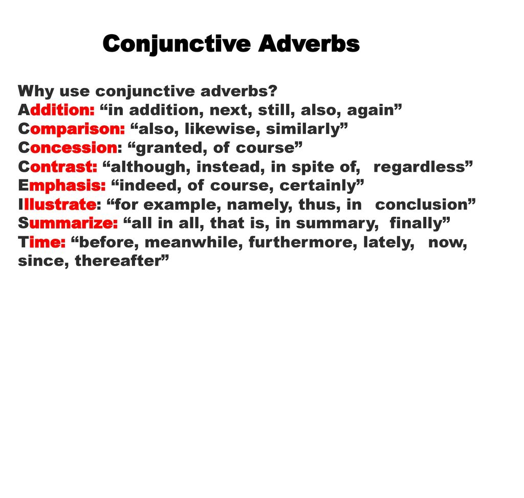 The Lawyer Words Conjunctive Adverbs Ppt Download
