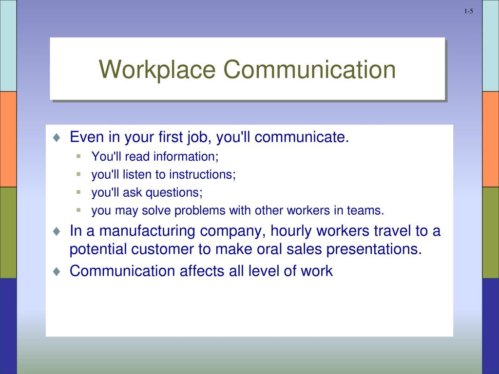 Work requires communication - ppt download