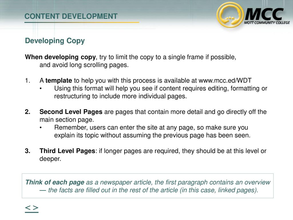 Thinking Web > CONTENT DEVELOPMENT - ppt download