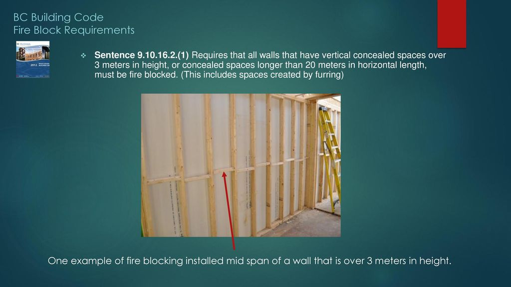 Bc Building Code Fire Block Requirements