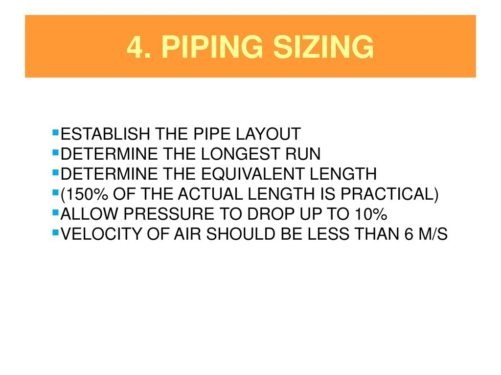 Me444 Engineering Piping System Design Ppt Download Layout Guide Sizing Establish The Pipe Determine Longest Run