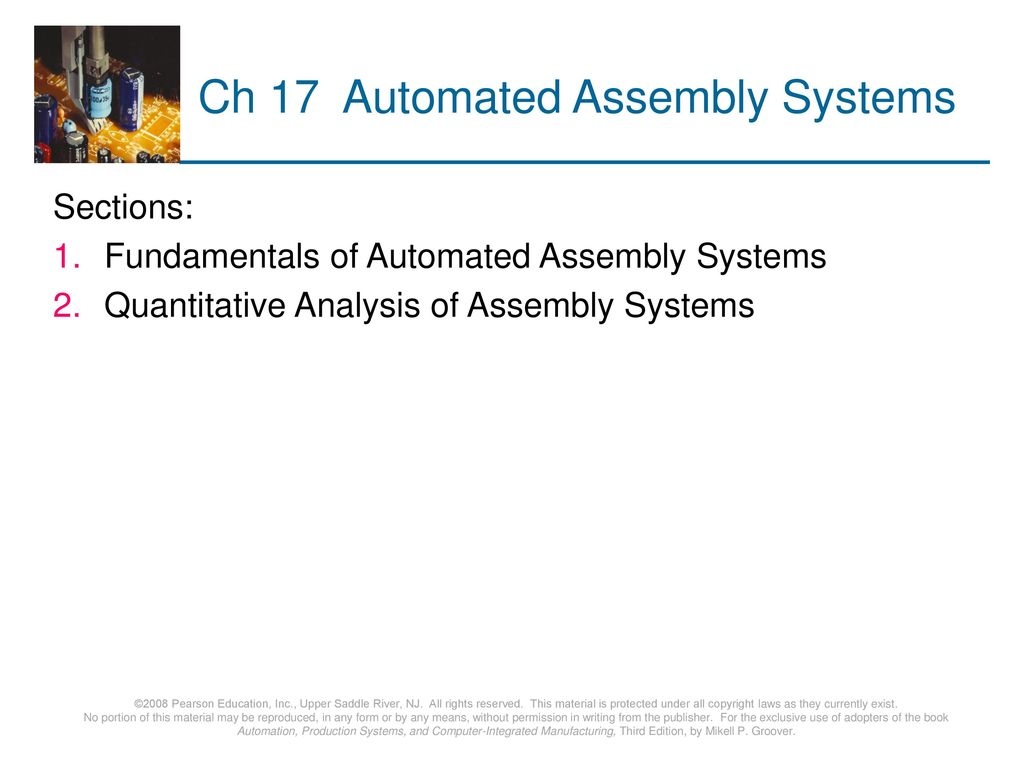Ch 17 Automated Assembly Systems
