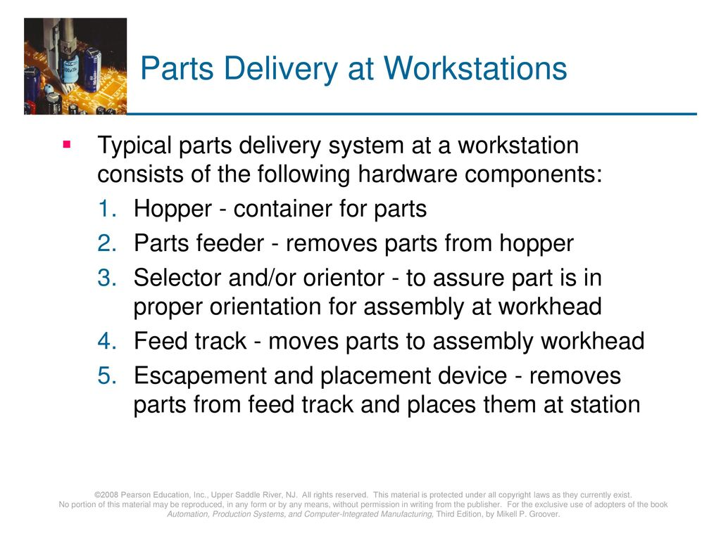 Parts Delivery at Workstations