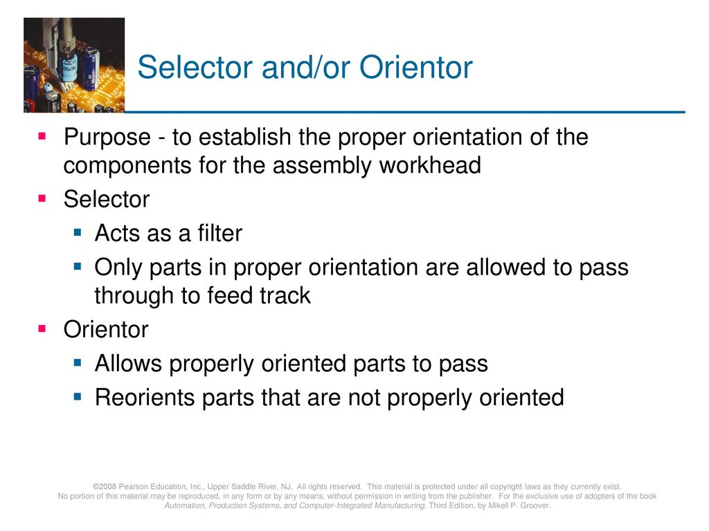 Selector and/or Orientor