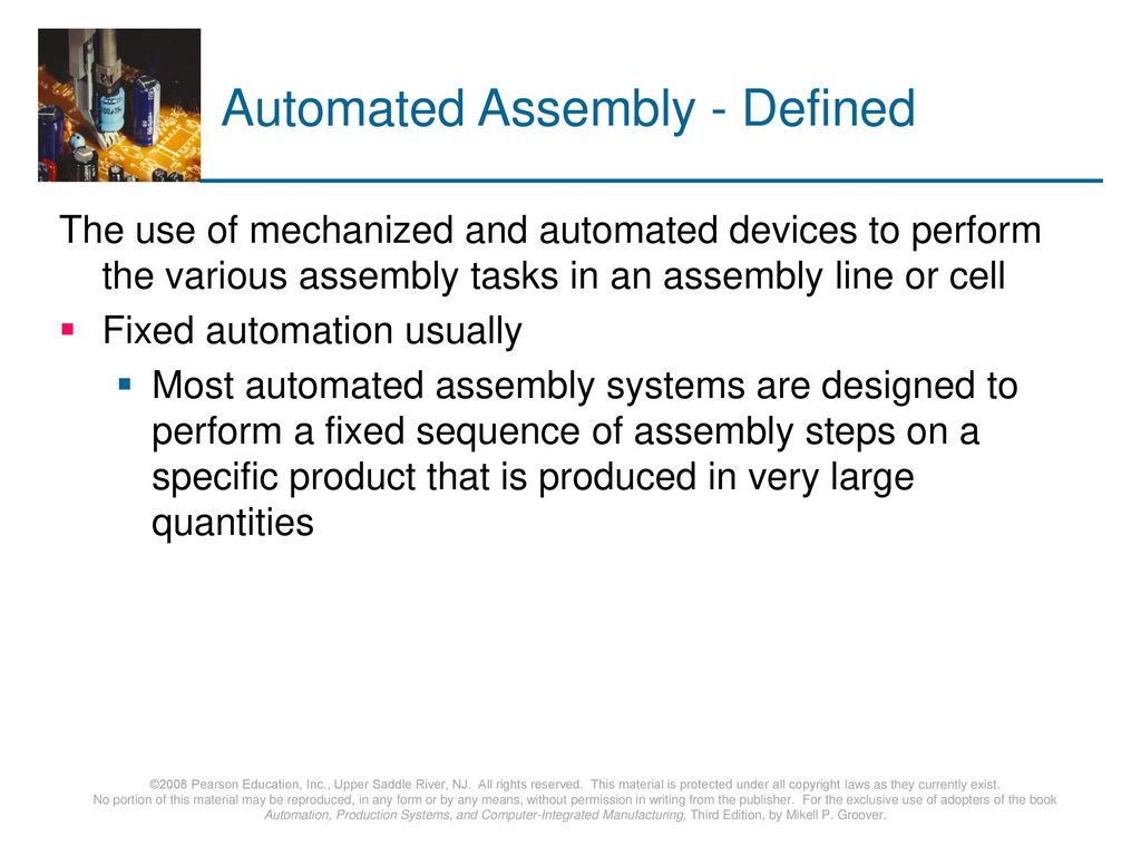 Automated Assembly - Defined