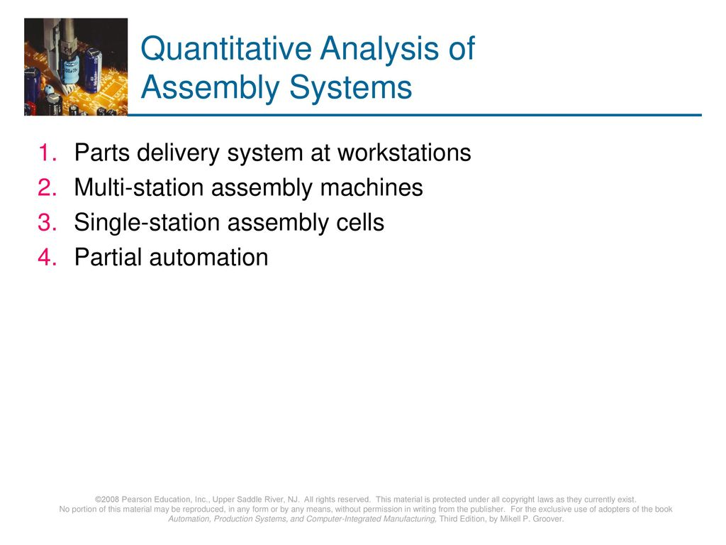 Quantitative Analysis of Assembly Systems