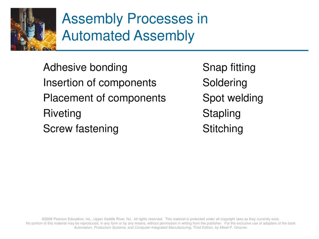 Assembly Processes in Automated Assembly