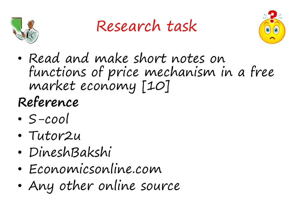 price mechanism in a free market economy