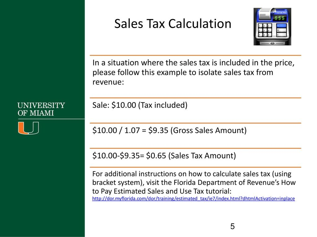 Florida Sales Tax Calculator >> Guide To Reconcile Sales Tax Updated September Ppt Video