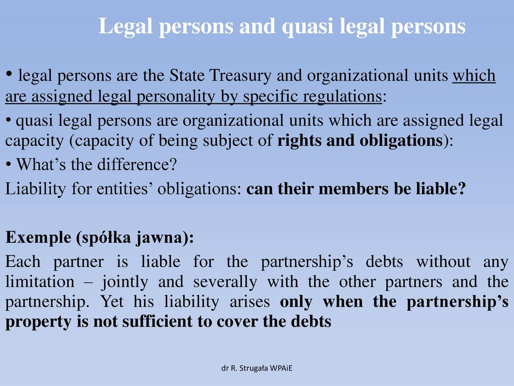 The legal capacity and legal capacity of a legal entity arises at what time