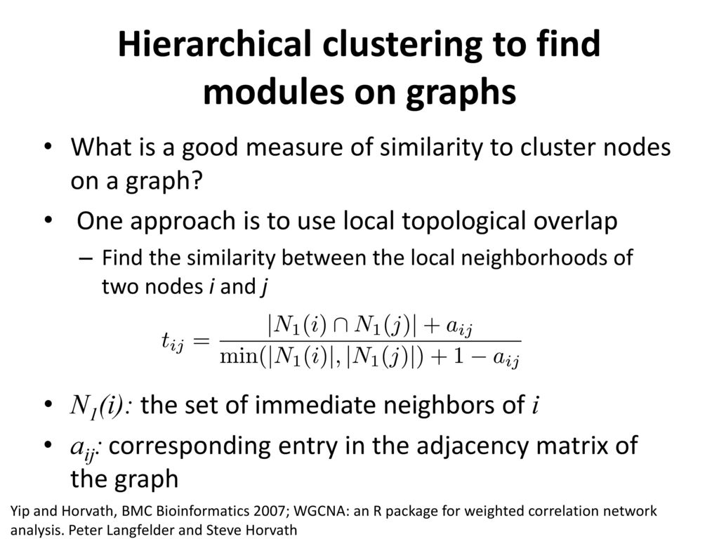 Graph clustering to detect network modules - ppt download