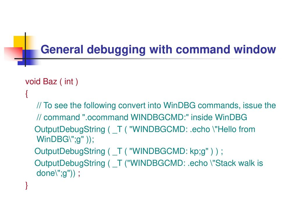 Chapter 8 - Advanced Native Code Techniques with WinDBG