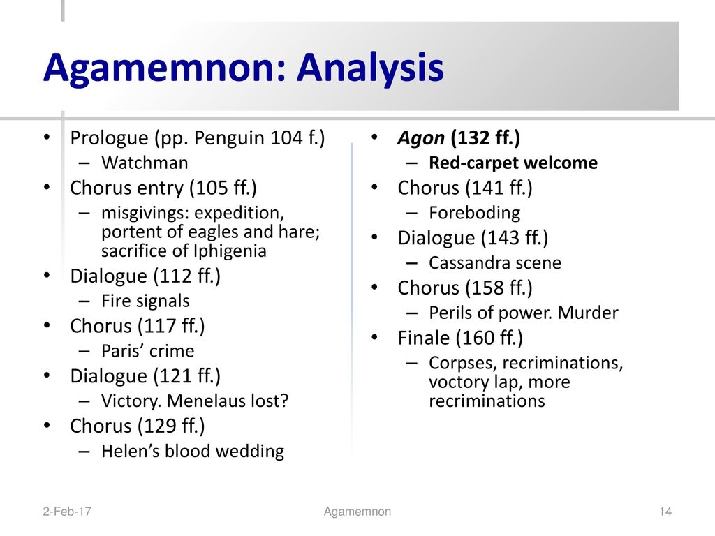 a literary analysis of the character agamemnon in aeschylus oresteia Agamemnon is the first play in a trilogy of tragedies called the oresteia the trilogy focuses on a chain of revenges that occur in the house of atreus the trilogy focuses on a chain of revenges that occur in the house of atreus.
