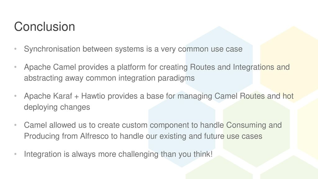 Alfresco Two-Way Sync with Apache Camel - ppt download