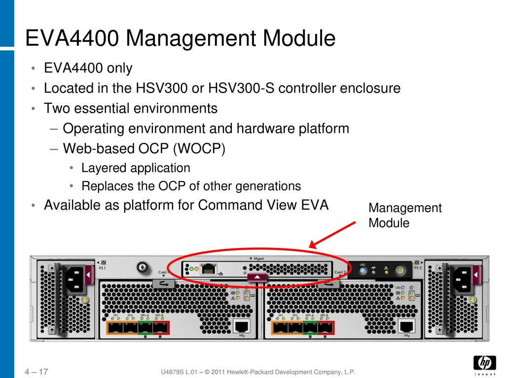 EVA4400 Controller and Management Module - ppt video online download