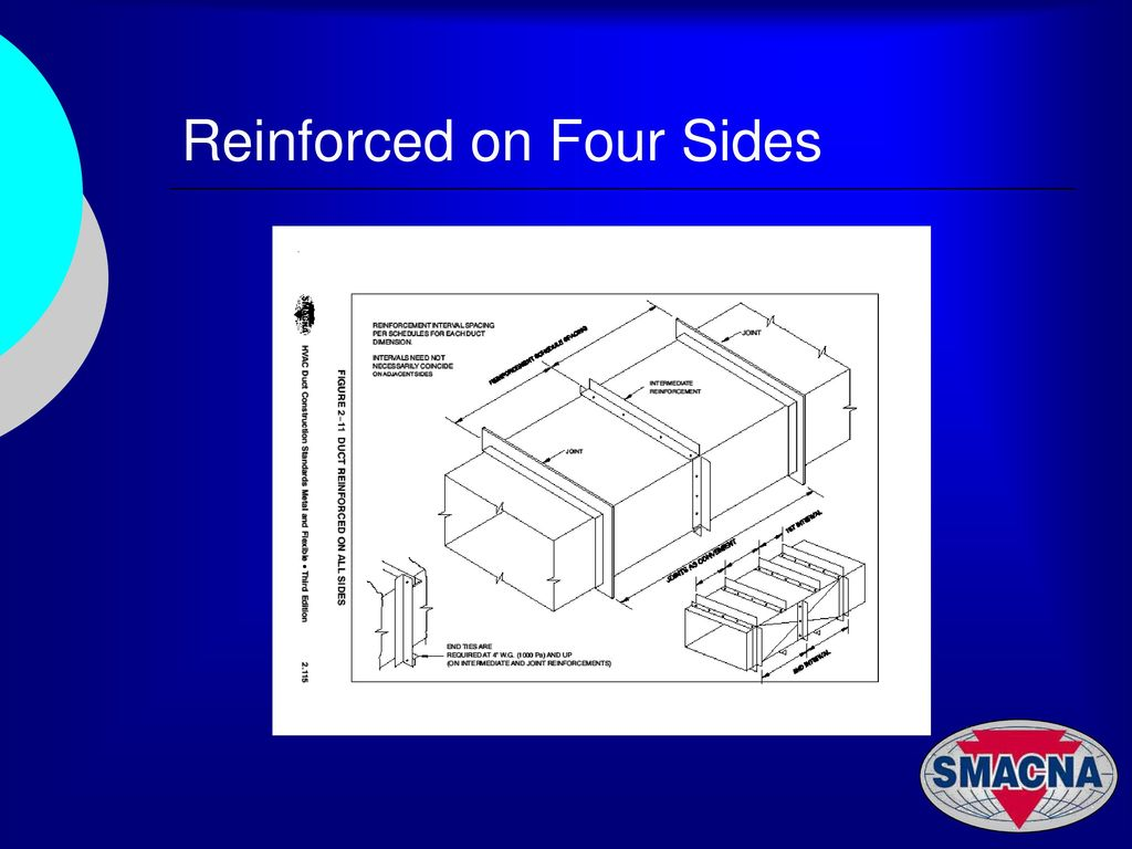 Hvac Duct Constrction Examples Ppt Download Drawing Images 26 Reinforced