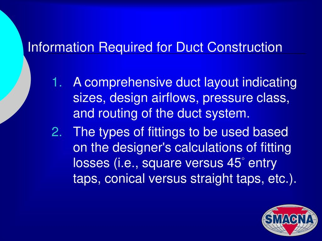 Hvac Duct Constrction Examples Ppt Download Drawing Example Information Required For Construction