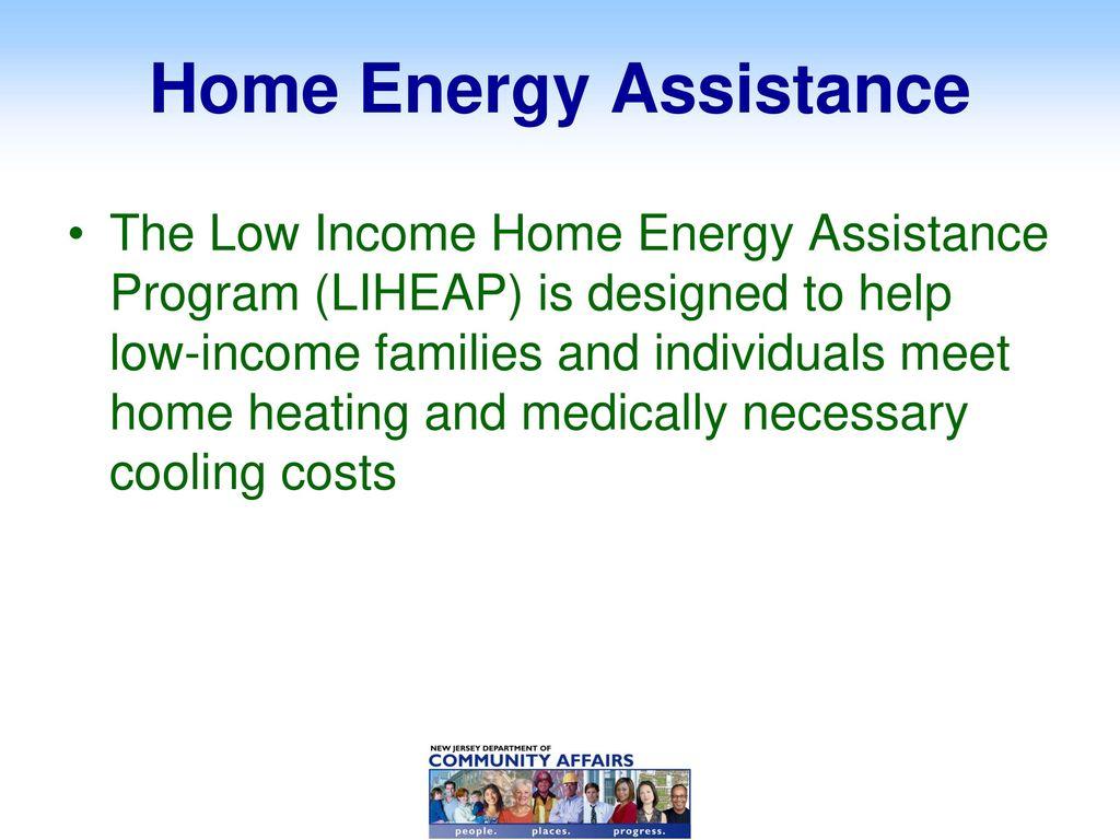 NJ Dept  of Community Affairs PSE&G Energy Assistance