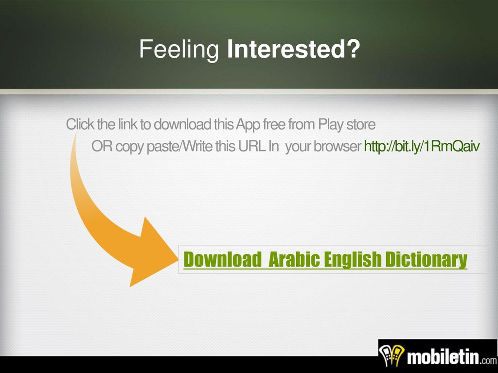 Arabic English Dictionary | Android App - ppt video online