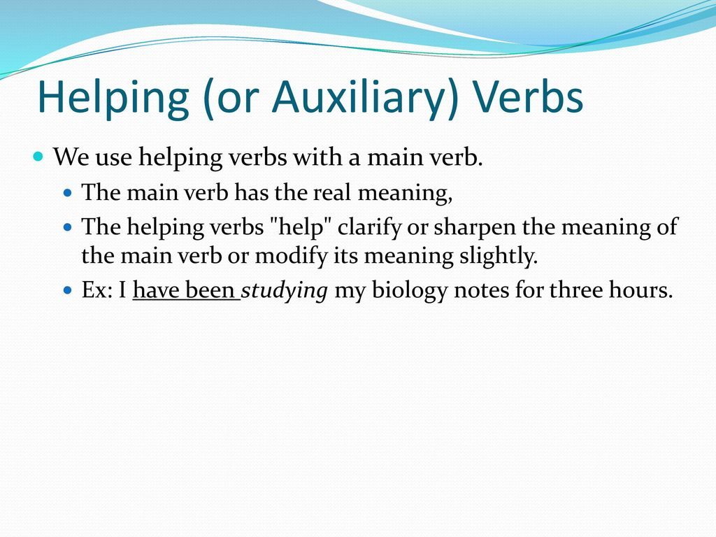 dating definition verb auxiliary