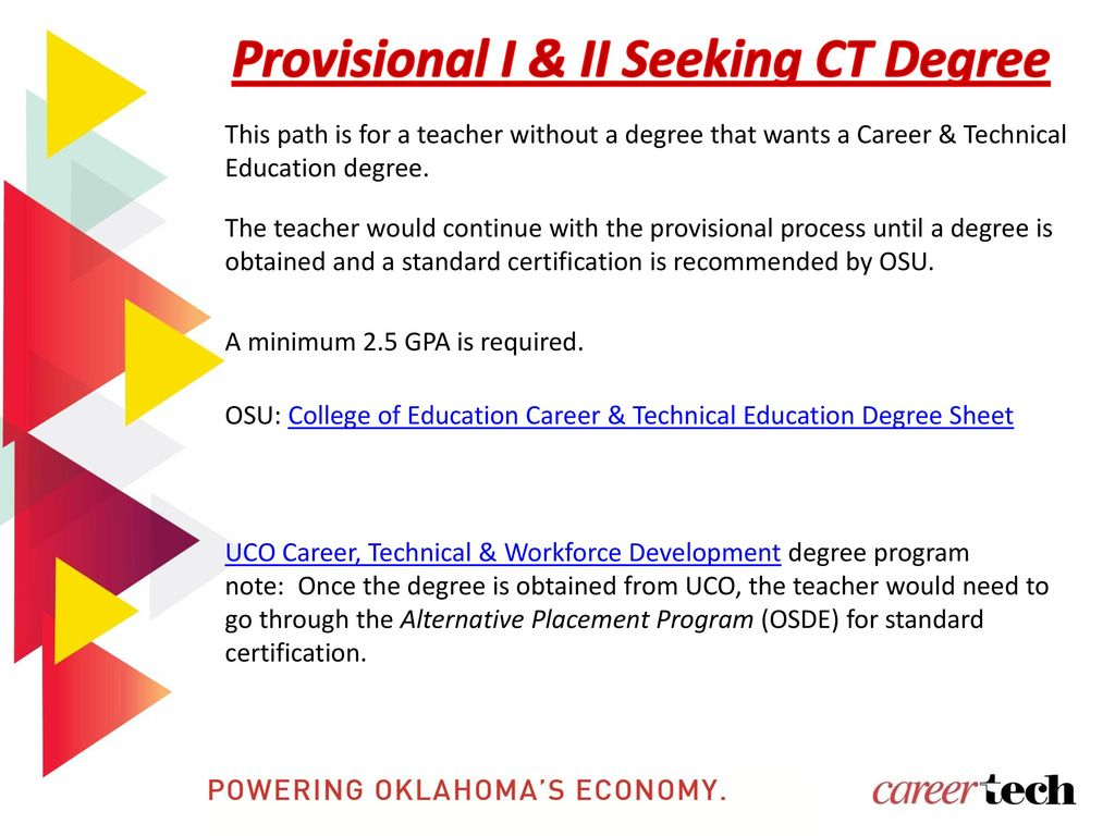 Oklahoma Department Of Career And Technology Education Ppt Download