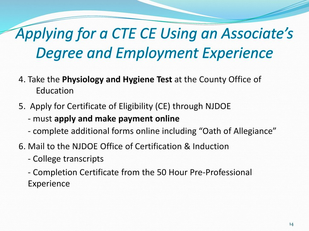 New Jersey Alternate Route Career And Technical Education