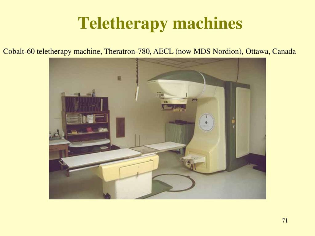 71 Teletherapy machines Cobalt-60 ...
