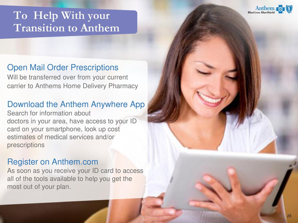 Open Enrollment 2017 Ready to choose your Anthem Blue Cross