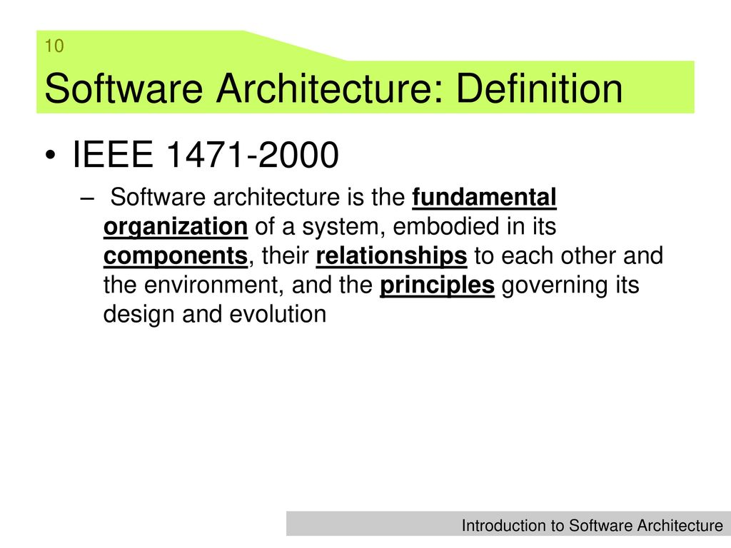 Tal Lecture 1 Introduction To Software Architecture Ppt Video Online Download