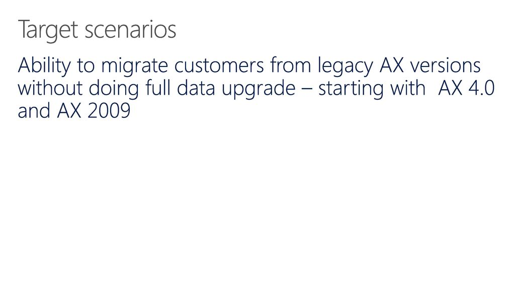 Upgrade/Migrate to the New Dynamics 365 for Operations - ppt