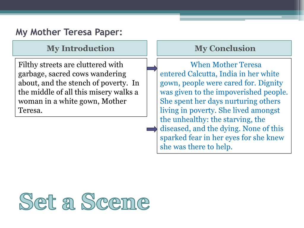 conclusion of mother teresa