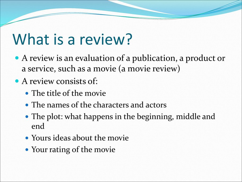 What is a review