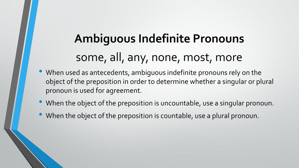 Pronoun-Antecedent Agreement - ppt download