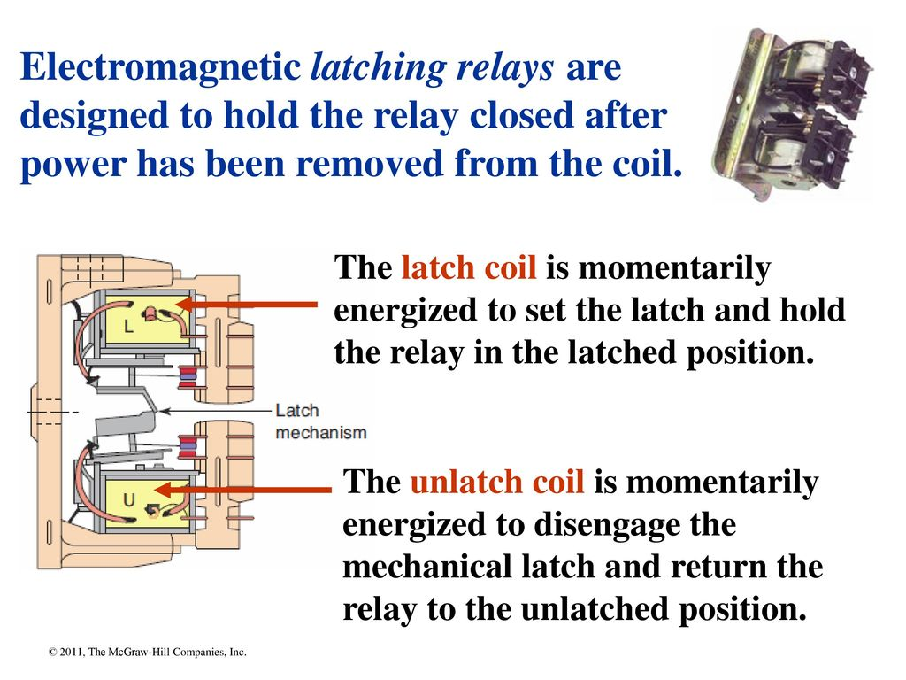 Chapter Ppt Download Relay Latching Diagram Electromagnetic Relays Are Designed To Hold The Closed After Power Has Been Removed From