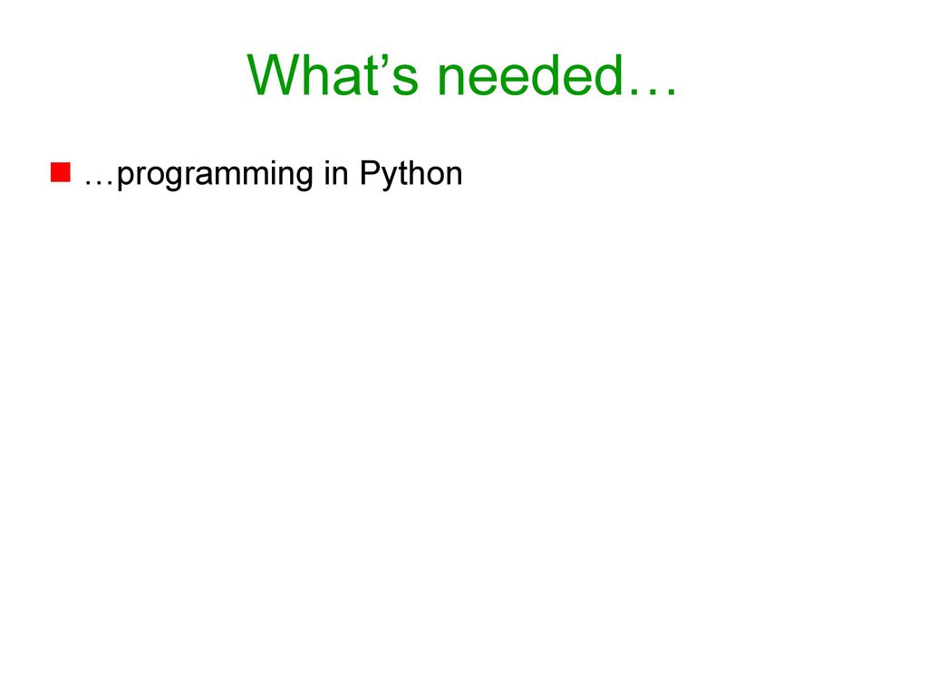 Programming for Bioinformatics - ppt download