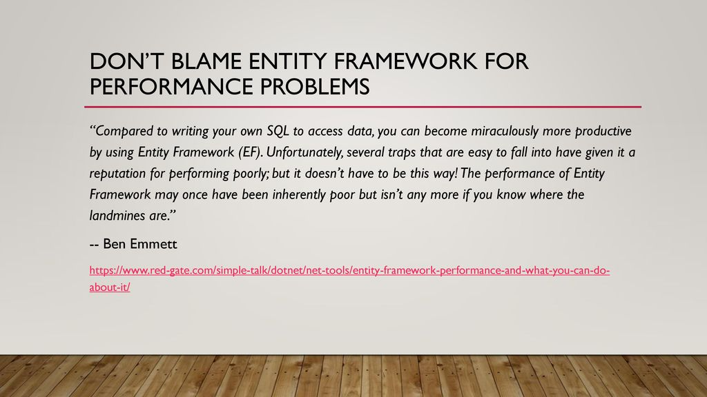 Entity Framework Efficiency - ppt download