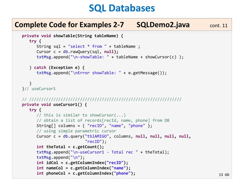 Lesson 13 Persistence: SQL Databases Victor Matos - ppt download