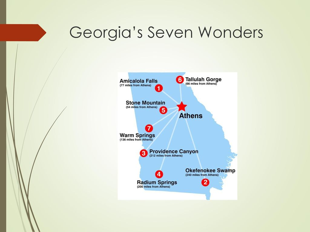 Map Of Georgia 7 Wonders.Georgia S Geographic Regions Ppt Download