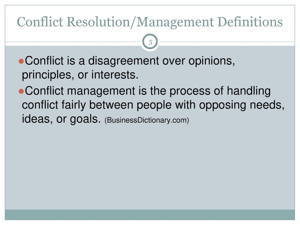 conflict resolution/management - ppt download