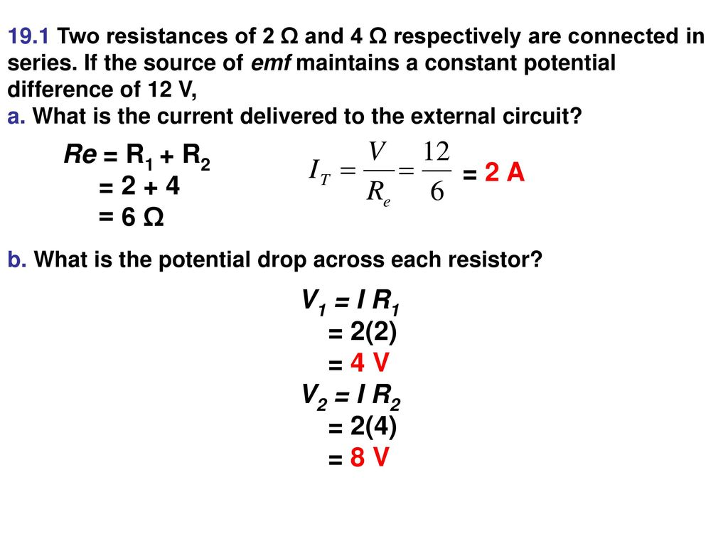 Resistors In Series A Circuit The Current Is Same Electrical Dc With Three 3 Re