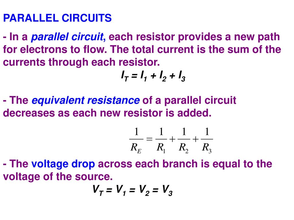 Resistors In Series A Circuit The Current Is Same Voltage Drop Parallel 4 Circuits