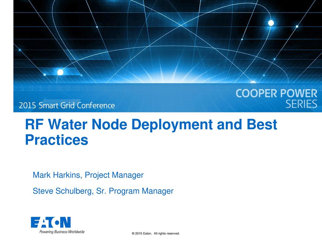 RF Water Node Deployment and Best Practices - ppt download
