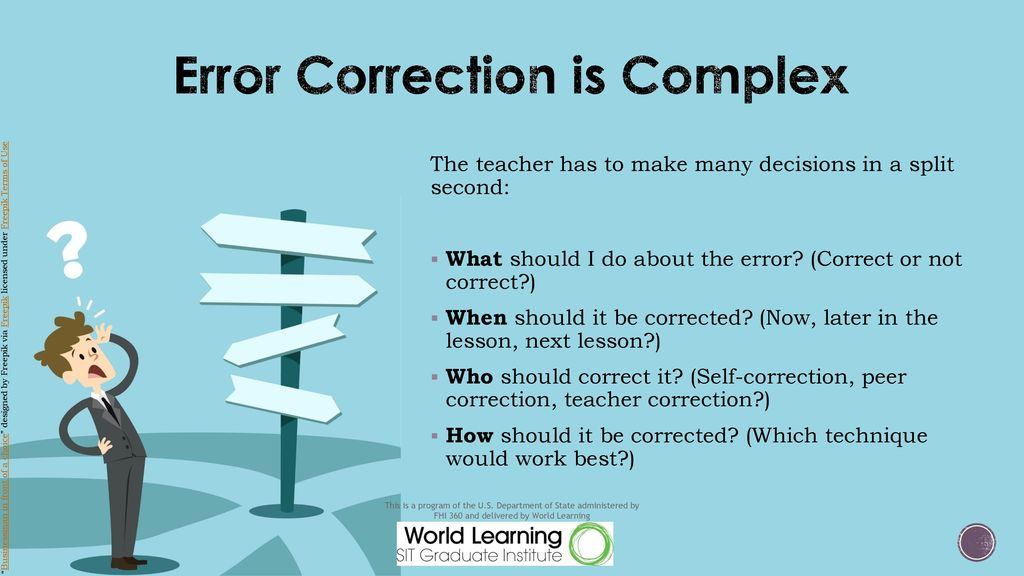 Error Correction is Complex