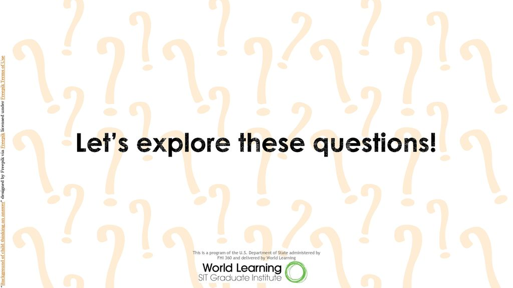 Let's explore these questions!
