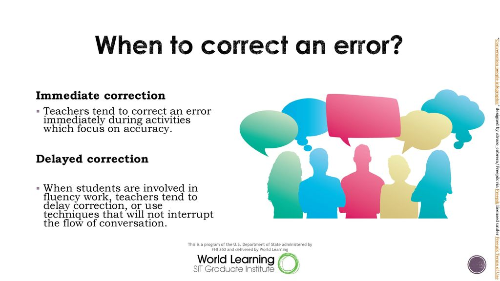 When to correct an error