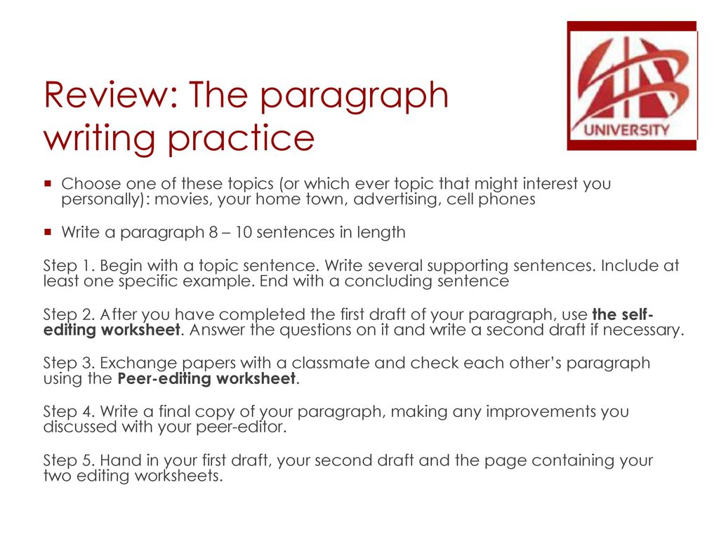 Els writing lecture 10 the paragraph unity and coherence review the paragraph writing practice ibookread ePUb