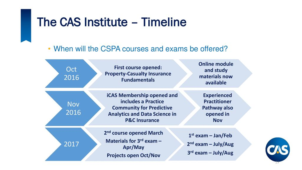 An Update from the Casualty Actuarial Society - ppt download