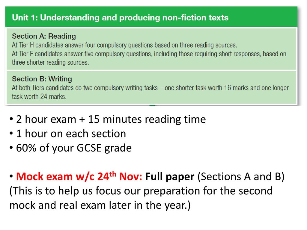 English Language Exam: Unit 1 - ppt download
