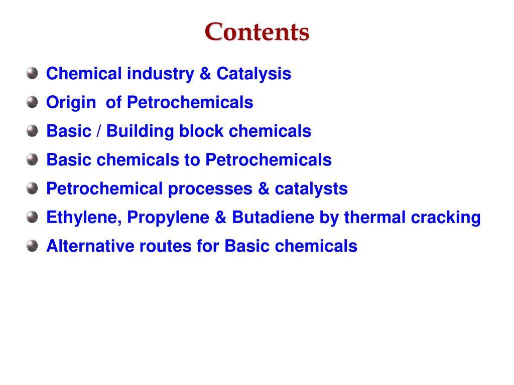 Catalysts & Catalytic Processes in Petrochemical Industry - ppt