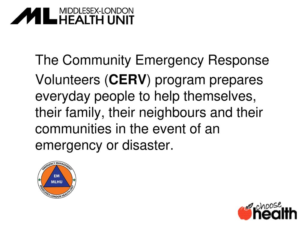 Community Emergency Response Volunteer. - ppt download